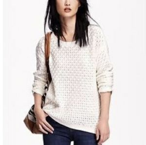 B2G1 Old Navy In A Flurry Ivory Popcorn Sweater